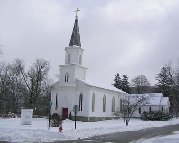 Winter view of the church